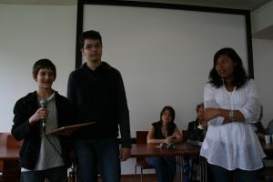 Discours de certains élèves pendant la remise du prix