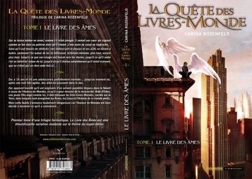 ROZENFELD Carina - LA QUÊTE DES LIVRES MONDES - Tome 1 : Le livre des âmes   Couv-quete-1